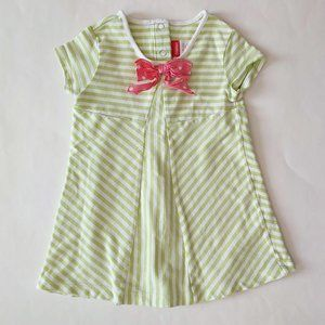 🎃3/$20Gymboree Striped Dress with bow 12-18 month